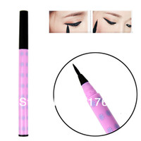 10830# 1 Liquid Wholesale 5Pcs Lot Black Soft Brush Liquid Eyeliner Pen Lasting Eye Liner Pencil Makeup Cosmetic 10830