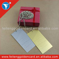 Feiteng Golden Card metal plaque - magnificient fashioned silver golden metal adhesive tag metal plaque nameplate