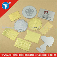 Feiteng Golden Card metal plaque - Latest refined nice metal adhesive tag metal plaque nameplate