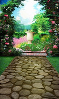 DLP Yes Spray Painted 600CM*300CM background Garden arches Stone Road photography backdropsvinyl photography backdrop 3423 LK