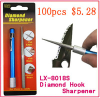 Wholesale in1 Outdoor Hunting Fishing Pocket Sharpener Diamond Knife Saw Hook Flat Edges
