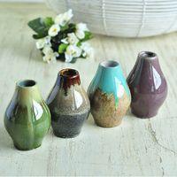 Ceramic ceramic flower vase - European Classic Ceramic Flower Vase Lovely MINI Flower Bottle Base Tabletop Decoration DC586