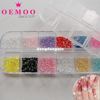 Wholesale New Mix Color mm resin rhinestone AB Circle Beads Nail Art Rhinestones Glitters Gems Decoration