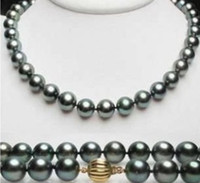 Wholesale uge mm tahitian black pearl necklace inch gift earring