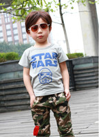 Boy Spring / Autumn  2014 New Kids Boys Girls Short Sleeve Cotton Summer T-Shirt With Children Clothing Baby Free Shipping 3-7 Year HBK85