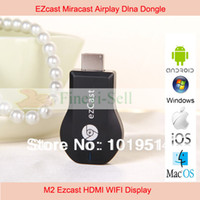 TV Stick Yes Not Included Newest M2III ezcast miracast airplay better Chromecast dongle DLNA ipush better than V5II for android IOS windows 5pcs LOT