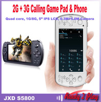 Wholesale JXD S5800 new Tablet PC Android Calling Game Pad quot IPS GB RAM GB Memory MTK6582 Quad Core Dual Camera