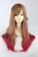 Auburn Straight Synthetic Hair Auburn Mix Long Straight Heat Resistance Synthetic Cosplay Costume Wig,Party Hair,Free Shipping