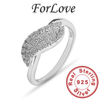 Wholesale ForLove CZ Diamond Certified genuine Sterling Silver Eiffel Tower rings for women Punk Gothic R716