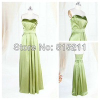 Model Pictures A-Line Bridesmaid Dresses Real Sample Sexy Sweetheart Open Back Lime Green Long Bridesmaid Dress 2014 Party Gowns Free Shipping