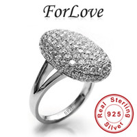 Wholesale ForLove Two Gifts Simulated Diamonds Real Sterling Silver Vampire Twilight Bella Engagement Rings for Women R103