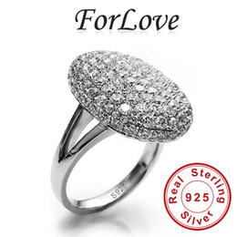 Wholesale 925 Sterling Silver Wedding Rings Two Gifts CZ Diamond for Women Engagement Jewelry Forlove Real Pure Genuine silver g9 R103
