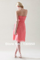 Reference Images Sweetheart Chiffon Sweet Chiffon Sweetheart Ruched Flower Knee Length A-line Bridesmaid Dress