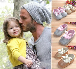 Wholesale OUTLETS Gold gray baby shoes soft princess walker shoes non slip toddler shoes Velcro cheap shoes non slip girl single shoe pairs ZY