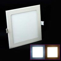No 85-265V 3014 Led Downlight Lamp Panel Light Circular Led Ceiling Panel Light 18w White Warm White 85-265V Drop Shipping Free 1500LM