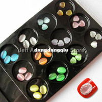 Wholesale Colors D Acrylic Nail Art Decorations Flat Back Rhinestones Gems Opal Cell Phone Decoration Jewelry Heart and Oval