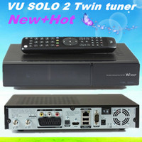 DLP Yes Digital vu solo 2 original Linux system decoder Vu+ solo2 1300Mhz CPU Twin tuner dvb-s2 tuner vu solo hd satellite receiver free ship