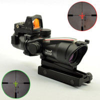 Wholesale Trijicon TA31 ACOG Style X32 Real Fiber Source Sight Duel Illuminated Sight Rifle Scope RMR Micro Red Green Fiber
