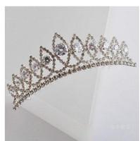 Tiaras&Crowns Rhinestone/Crystal  Wedding Bridal crystal veil tiara crown headband CR182