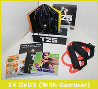 Wholesale Factory Saled DVDs Focus T25 Fast Shipment Shaun T s Crazy Potent Slimming Training Set Alpha Beta Gamma Core Speed T25 Workout