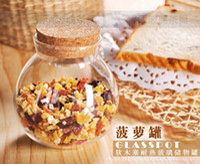 Wholesale Middle Size Round Glass Storage Jar