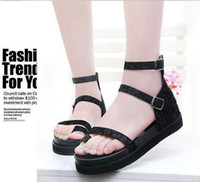 ann demeulemeester - 2014 New Spring and summer ann demeulemeester vcruan open toe platform sandals