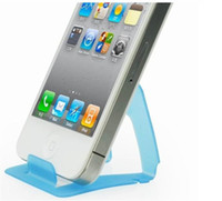 Wholesale Universal Card phone mounts Cell Phone Stand Holder Plastic Portable foldable for iPhone Samsung Galaxy S3 S4 S5 Note iPad HTC Sony