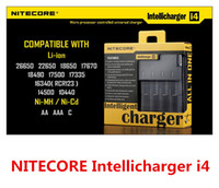 No NT88801  Intellicharger i4 Nitecore Universal Battery Charger With US EU Plug For 26650 18650 14500 CR123A 16340 Ni-MH AA AAA C Battery Free Shipping