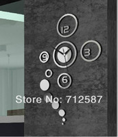 Mechanical Wall Clocks 60 cm Home decoration!Mirror effect ring wall clock Modern design,wall decor,wall decoration living room,home decor,Free shipping#L099