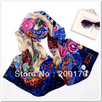 Wholesale 2014 NEWEST cmx42cm ladies shawls scarf can be MUSLIM HIJAB silk Drape Fashion printing shawls scarf S220