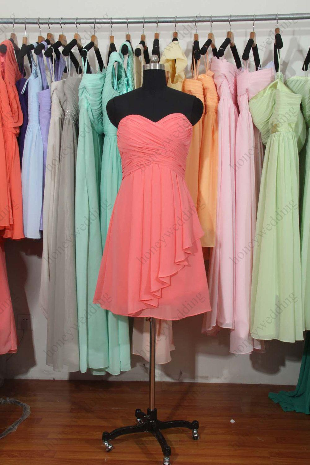 Beach Coral Formal Dresses