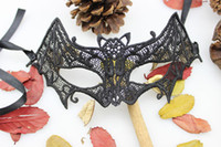 Wholesale Bat Mask Lace Masks Masquerade Ball Masks Festive amp Party Supplies Handmade Half face Black Color Adult Size Cotton Party Masks New Arrivals