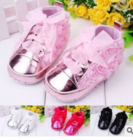 Wholesale The new spring MIYUEBB baby shoes plain coloured roses toddler shoes
