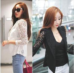 jumpsuits New Top Coat Sexy Sheer Lace Blazer Lady Suit Outwear Women OL Formal Slim