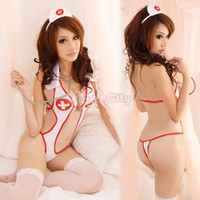 sexy nurse uniform - 2014 Women Sexy White Game Uniforms Babydoll Erotic Lingerie Lady Sex Underwear Fantasy Costume Sexy Nurse Costumes b7
