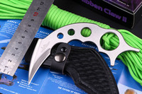 Wholesale New GH2028SS Hibben Claw II Fixed Full Tang Karambit Bowie Clip w Sheath Camping survival tactical knives kampilan kinfe hunting Knife A41H
