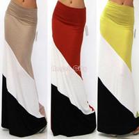 Wholesale Cheapest Women Long Skirts New Summer Clothing Maxi Skirt Elastic High Waist Casual Spling Color Skirt SV003697