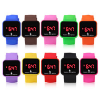 Unisex band candy - Mix colours touch LED watch screen Digital Watch soft band Jelly LED Candy Watch LT006