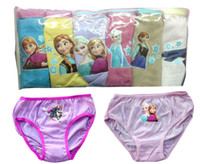 Briefs girls panties - free shipment packs Children kids boys girls pure color frozen Underwear brief panties with sizes to years AL001