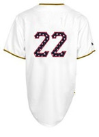 #22 Andrew McCutchen Majestic Stars and Stripes White 2014 B...