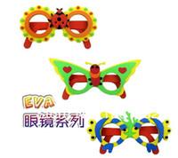 Wholesale New Cartoon Animal DIY Craft Handicraft EVA Sticker Foam Glasses Kids Children Puzzle Educational Toys