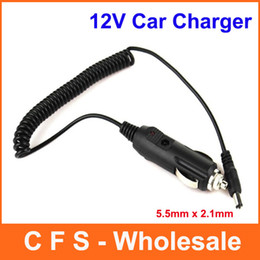 200pcs Car charger Auto Cigarette Lighter 12V car Power Supply Adapter Plug Charger 5.5mm x 2.1mm Free shipping