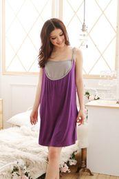 Wholesale 2014 Fashion Women Maternity Dresses Summer Pregnant Mother Clothes Comfortable Nursing Dress Cotton Purple Orange Free Size Casual