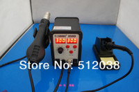 Electricity   SAIKE 898D Hot Air Gun 2 IN 1 Rework Soldering Desoldering Station SMD IRON