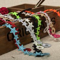 Wholesale Price Fashion Small Stars Knitted Lace Italian Bracelet Fashion Bracelet