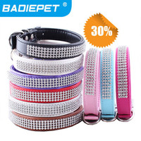 Wholesale 30 off Big Sale New Arrival Luxury Diamonds Decoration Pu Leather Fashion Dog Pet Collar Pet Product