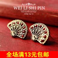 Cheap Stud Taobao Best White Red Zircon / Rhinestone Dig treasure