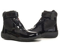 Wholesale 26colors New Arrival mens Casual Comfort Shoes Athletic Shoes High Top American Cup Patent Leather with Mesh Breathable Shoes