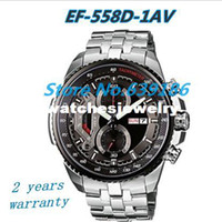 Wholesale NEW EF D AV MEN S CHRONOGRAPH TACHYMETER EF D EF D D MINERAL GLASS M GENTS Gold WRISTWATCH Original box