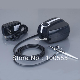 Wholesale Portable Makeup Airbrush Mini Air Compressor with Spray Gun kit Speed Airbrush tattoos hours Working